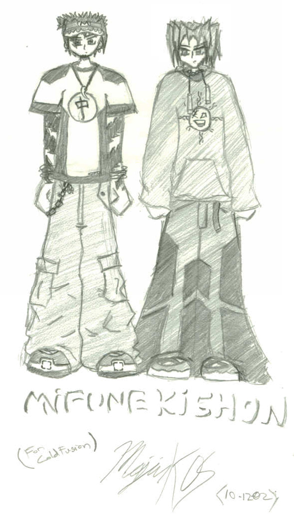 Pretty heavily stylized Mifune and Kishon, thanks Majin!